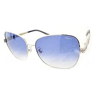 Chopard - SCHB25S, Geometric, metal, women, SHINY PALLADIUM BLUE/BLUE SHADED(0E70), 61/16/130