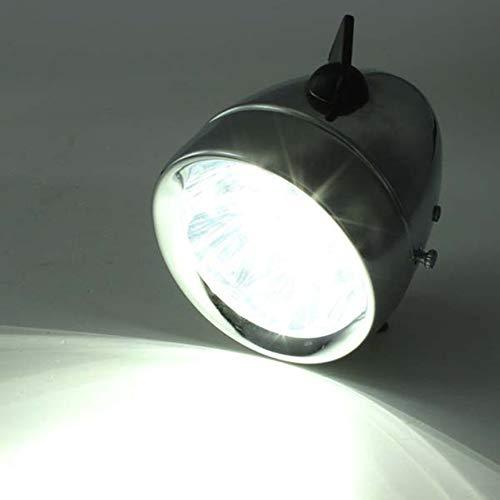 Plateado Pudincoco Bicicleta de /época Bicicleta Delantera Luz de la l/ámpara Bater/ía 7 Faros LED con Soporte Bater/ía de Seguridad Luz de conducci/ón Nocturna