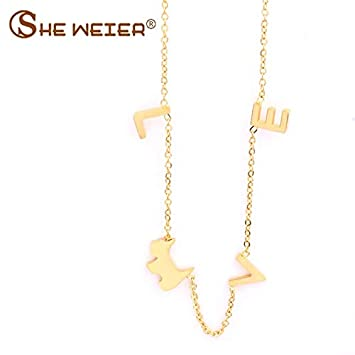 Davitu BTS Accessories Davitu Stainless Steel Chain Chocker Collar Best Davitu Long Necklaces /& Pendants Indian Jewelry Metal Color: Golden