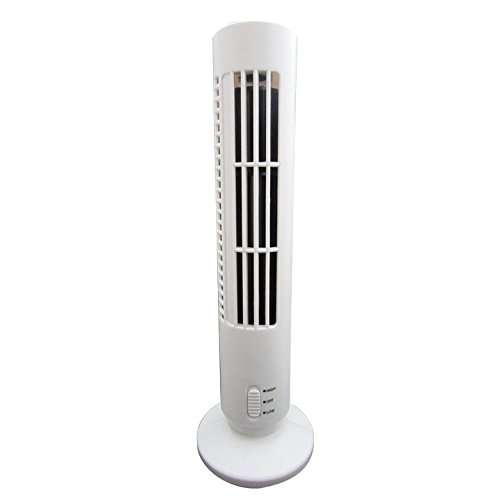 Stephenie USB Rechargeable Portable Small Tower Fan Mini Air Conditioning Operated Desktop Cooler Table Fans for Travel Household Office Sports by Stephenie