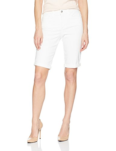 NYDJ Women's Briella ROLL Cuff Jean Short, Optic White, 2 ()