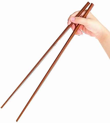 Especificaciones caoba Fashionwu Palillos de madera para cacerolas calientes de 42 cm de longitud Color