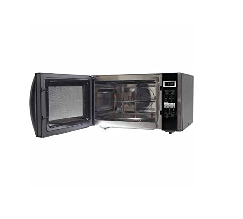 Emerson 1.5 CU. FT. 1000W Microwave Countertop, Stainless Black