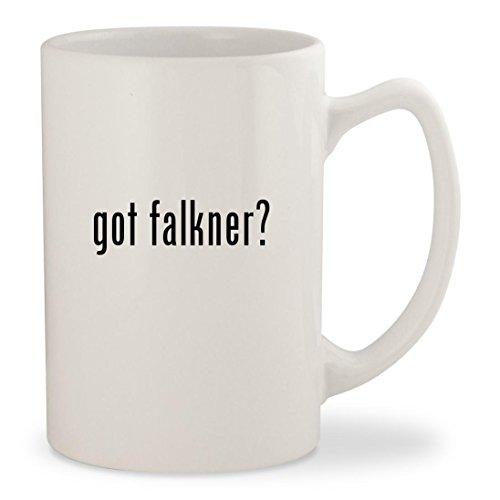 got falkner? - White 14oz Ceramic Statesman Coffee Mug Cup