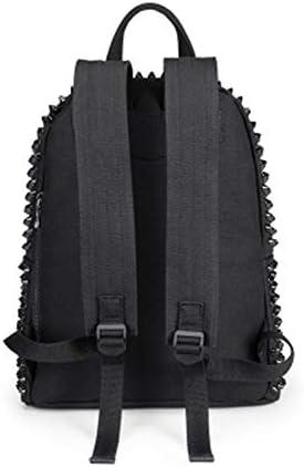 Sac à dos Version coréenne du sac à bandoulière Rivet pour hommes et femmes Sac à bandoulière Simple Sauvage Décontracté Toile Sac à dos Campus Sac à dos