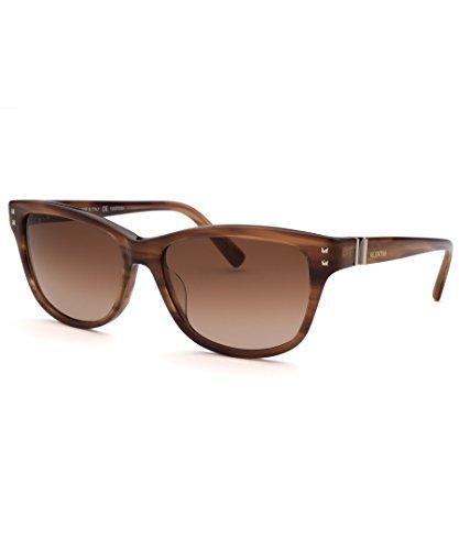Valentino Sunglasses - V627S / Frame: Brown Stripe Lens: Brown Gradient