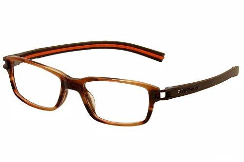 Tag Heuer Eyeglasses Track S TH7602 TH/7602 002 Brown/Orange Optical Frame - Track Heuer Tag