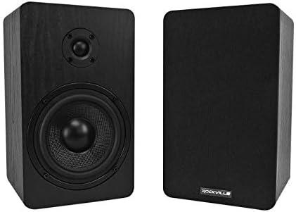 """2 Rockville RockShelf 54B 360w Black 5.25″"""" House Theater Bookshelf Audio system/4 Ohm, RockShelf 54B V2"""