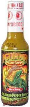 Iguana Mean Green Jalapeño Pepper Sauce - (3 Pack of 5 Oz. Bottles)