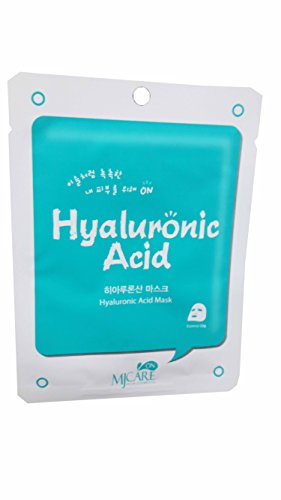 2 Mask sheets of Hyaluronic Acid Mask by MJCARE ON. (essence 22 g/ sheet) (Deluxe Red Hair Spray)