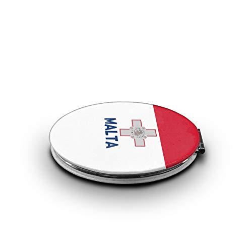 LALABULU Makeup Mirror Originality Malta Flag Mini Pocket Mirror -