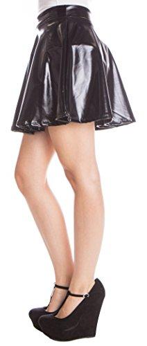 metallic-skater-skirt