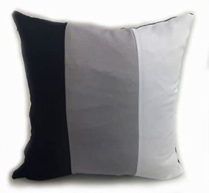crazy price buy popular great fit LARGE SET OF 4 3 TONE SCATTER CUSHIONS + COVERS BLACK/GREY/WHITE