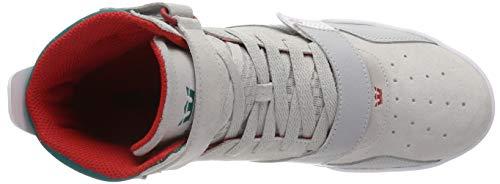 A teal lt Grey Uomo Breaker Supra white Sneaker Collo Alto Grigio 057 wxE4zfpOq