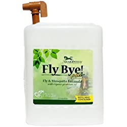 Fly Bye Plus, 100% bio-degradable; Non-toxic, Fly Spray, 2.5 Gallon