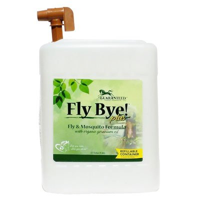 Fly Bye Plus, 100% bio-degradable; Non-toxic, Fly Spray, 2.5 Gallon by Guaranteed Horse Products