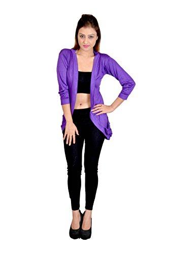 Sweekash Violet Pocket Shrug