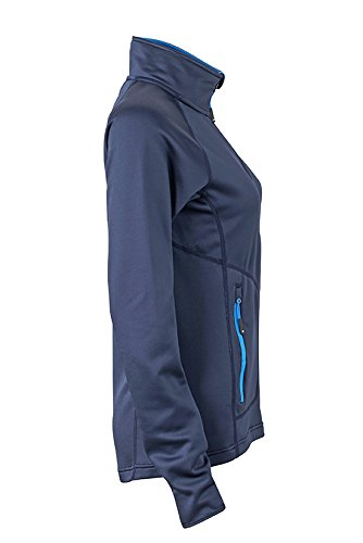 James & Nicholson – Stretchfleece Jacket Chaqueta navy/Cobalt