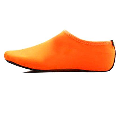 Scarpe Da Donna Pelle Di Acqua A Piedi Nudi Calze Aqua Per Beach Swim Surf Yoga Sport # 0014 Arancione