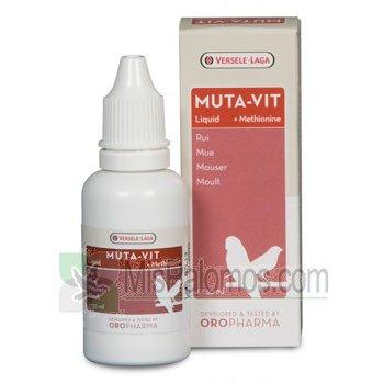 Versele-Laga Muta-Vit 30 ml, Mezcla especial de vitaminas, aminoácidos y oligoelementos. Para pájaros de jaula