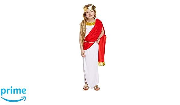 HENBRANDT Girls Disfraz Griego Disfraz de Diosa Romana Edad 7 - 9 ...