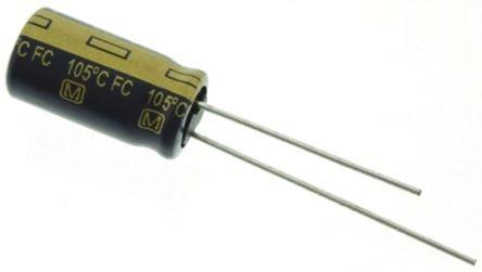 Elec Capacitor (PANASONIC EEU-FC0J821L CAPACITOR ALUM ELEC, 820UF, 20%, 6.3V, RADIAL (5 pieces))