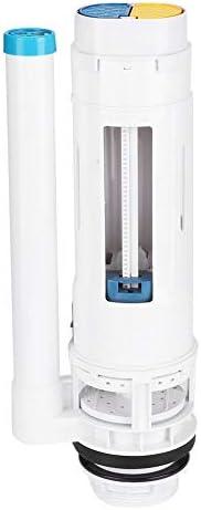 フラッシュバルブ、バスルームトイレ用品フラッシャー交換キット給水タンク入口および排水バルブスイッチボタン、プラスチック製取り付けネジ付き