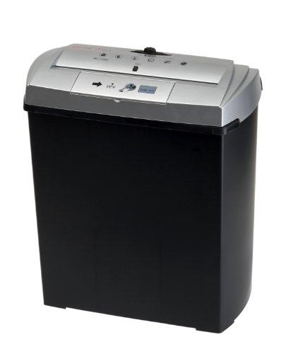 Genie 250 CD Aktenvernichter (bis zu 7 Blatt, Streifenschnitt, mit CD-Shredder, Inkl. Papierkorb) silber/schwarz