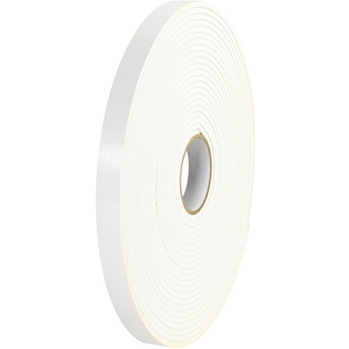 Aviditi 116 Rubber Industrial Double Sided Foam Adhesive Tape, 1/16