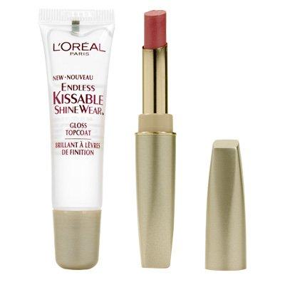 (L'oreal Endless Kissable Shine Wear Lipstick Duo Cameo Kiss 110)