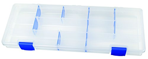 Flambeau 3009 Tuff Tainer See-Through Storage Box, 3 Fixed Compartments, 9 Zerust Dividers