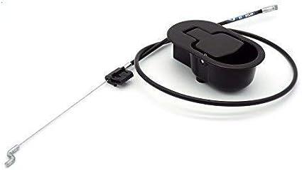 Palanca con cable de sillón y sofá reclinable relax metálica negra. Cable de *14,6 cm. de liberación.