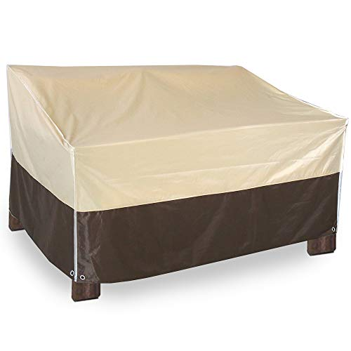 Living Express 2-Seater Patio Cover for Lounge Sofa, Waterproof Patio Outdoor Furniture Cover for Bench (54