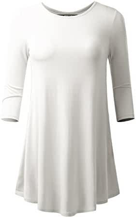 ALL FOR YOU Women's Flare Hem Tunic Made in USA