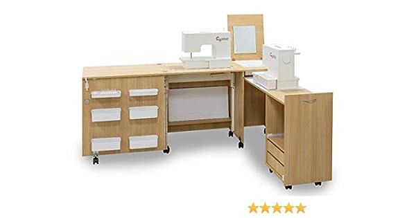 Comfort 3 | Mueble para máquina de coser | (Premium White, L (Air ...