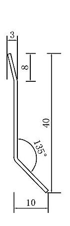 H/öhe 2,5 METER 40 mm FUCHS Sockelleiste Edelstahl V2A Geb/ürstet