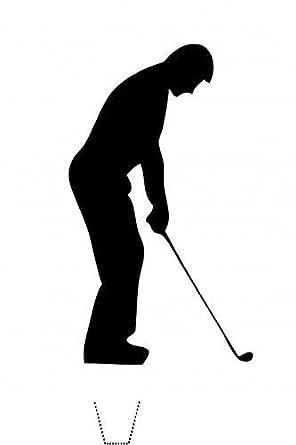 12 X Novelty Golfer Golf Silhouette Edible Standup Wafer Paper