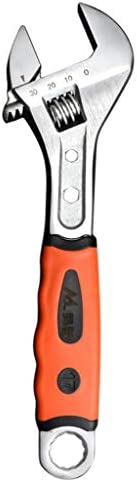 アジャスタブルレンチ サイズ調節 スパナ 配管工事 ゴム製グリップ 万能レンチ - 10 inトゥース