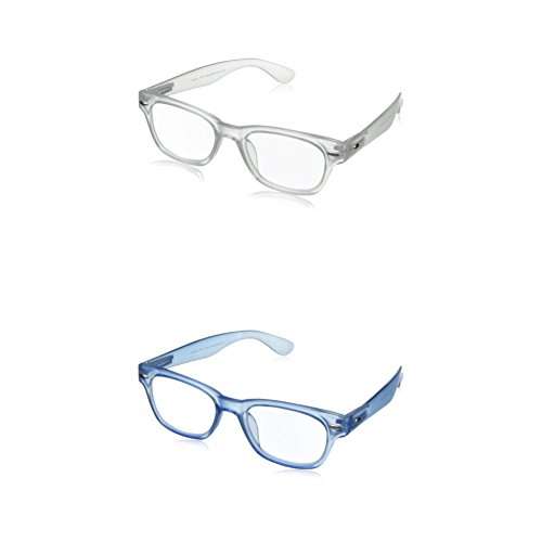 Peepers Rainbow Bright Wayfarer Reading Glasses 1.0x - Two-Pack (Clear and - Reading Clear Glasses