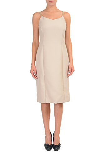 Maison Martin Margiela 100% Wool Beige Women's Sheath Dress US M IT 42 (Martin Dresses Women Margiela)
