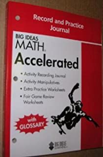 Amazon big ideas math accelerated a common core curriculum big ideas math accelerated record practice journal fandeluxe Choice Image