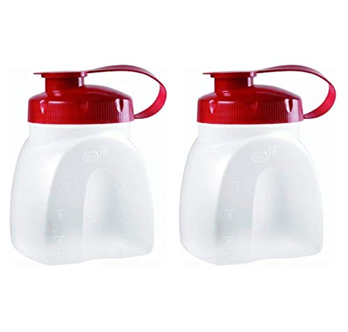 Rubbermaid SYNCHKG091273 MixerMate Servin' Saver Pint Bottle (2-Pack), Red, Clear ()