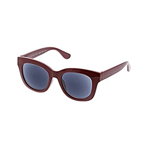 Peepers Women's Center Stage Reading Sun 1.00 Round Sunglasses, Berry, 47 mm 1