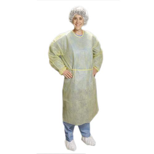 Alpha Pro Tech GN-53125-3 GenPro Gown, Universal Size, Yellow (Pack of 100)