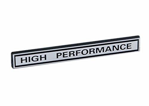 HIGH PERFORMANCE Racing Engine Emblem in Chrome & Black - 5