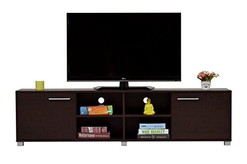 DeckUp Uniti Engineered Wood TV Stand and Home Entertainment Unit (Dark Wenge, 180 cm)