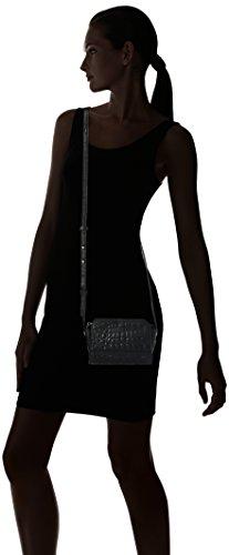 Liebeskind Berlin - Hollywood Famecr, Bolsos bandolera Mujer, Schwarz (Oil Black), 6x11x17 cm (B x H T)