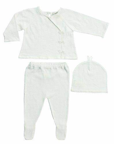 Angel Dear Neutral Baby Kimono Sweater Set Gift Outfit Newborn Take Me Home Set (Newborn, Ivory)