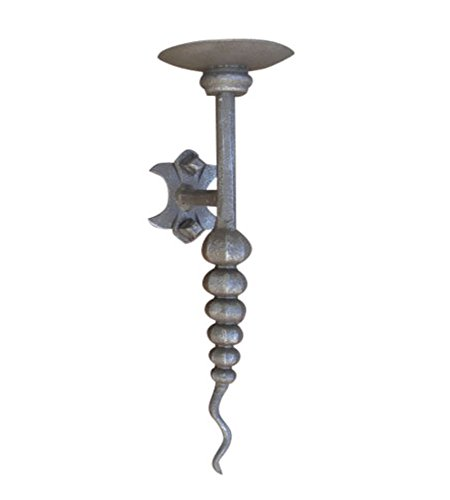 Shoreline Unique Contemporary Decorative Wrought Iron Wall Mounted Candle Sconce-Bronze