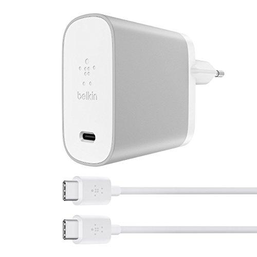 Belkin Boost Charge cargador doméstico de 27 W con Quick Charge 4+ y cable USB-C a USB-C de 1,2 m (cargador Quick Charge 4+, adecuado para Samsung ...